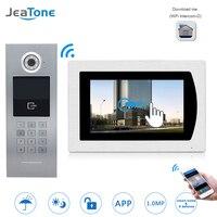 7''WIFI Video Tür Telefon IP Türklingel Intercom Touch Screen für Gebäude Access Control System Unterstützung Passwort/IC Karte/ iOS Telefon
