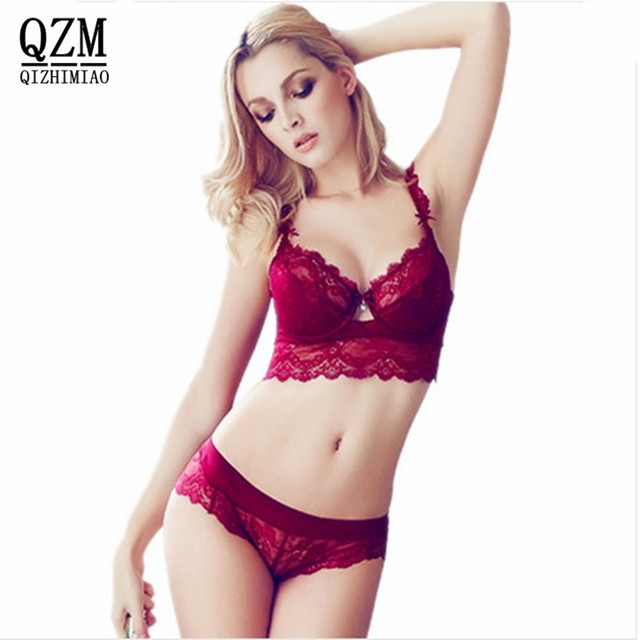 Women s sexy bra set lace underwear adjustable thin cup lingerie set flank  wide womens bras and underwear sets 4ceff369c