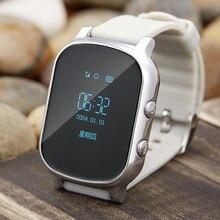 Gps ile T58 Akıllı Izle çocuk saatler ve sim ile kart Rusça Çocuklar Saatler Destek SOS GPS Tracker Smartwatch telefon
