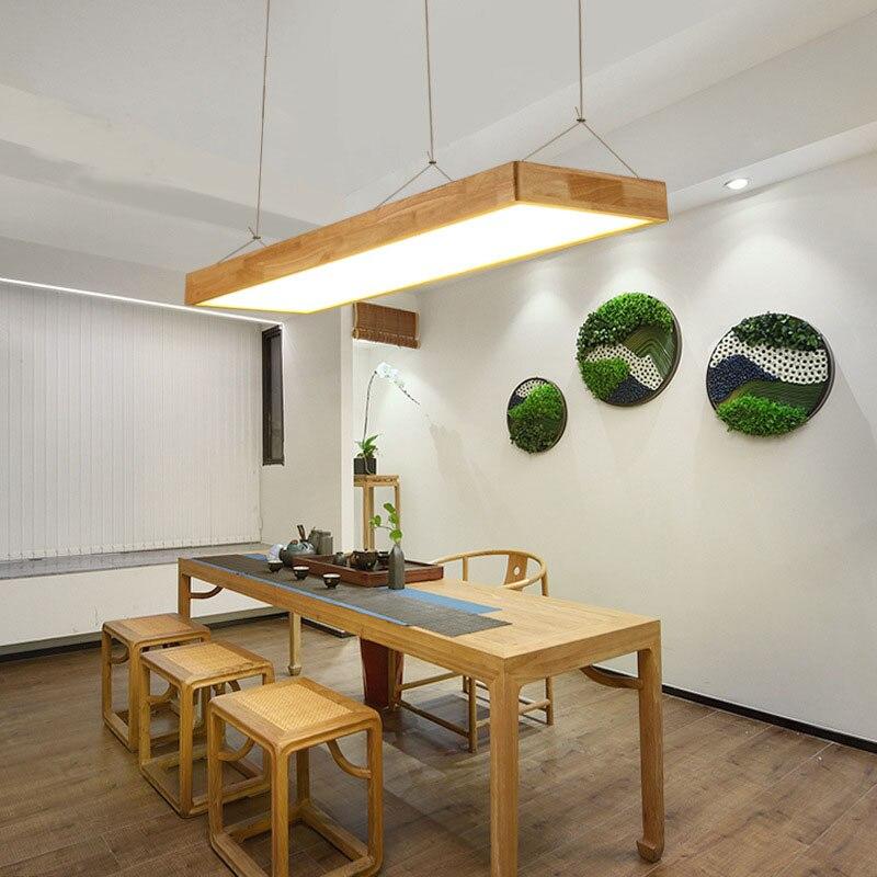 Светодиодный подвесной светильник из дерева Arcrylic абажур простой современный подвесной светильник для гостиная, прихожая, спальня, офис, ко... - 5