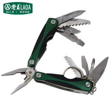 LAOA Multi-function folding knife Outdoor Survival Mini Tool Plier Small Size Multi-Function Combination Folding Pliers
