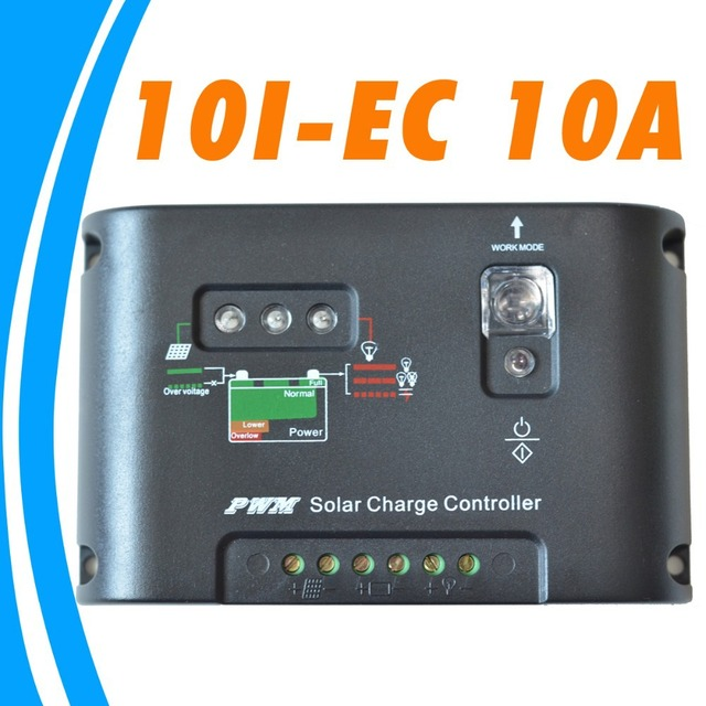 10A Solar Controller Charger Regulator 12V 24V solar panel battery charge controller Light &15hours Timer Control 10 amps 10I-EC
