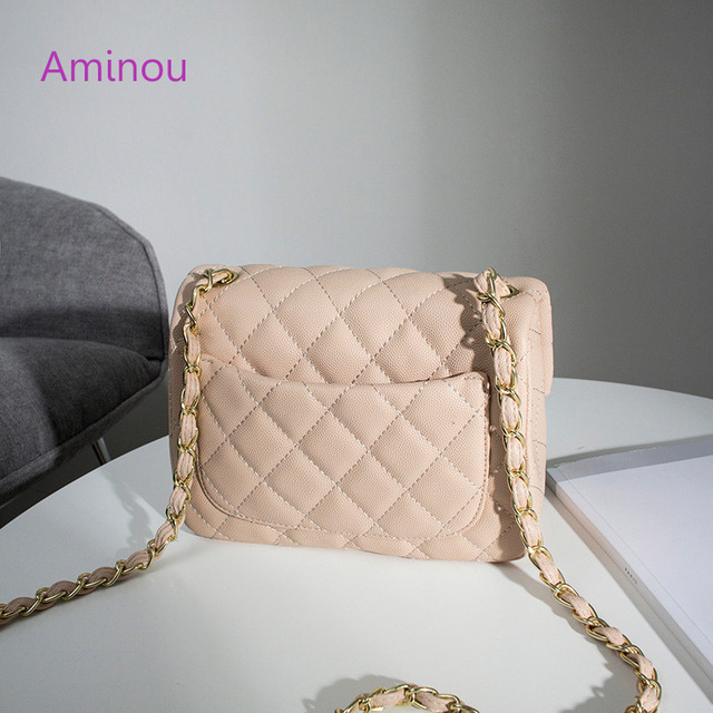 Aminou Luxury Handbags Women Shoudlder Bags Designer 2017 For Teenager Small Messenger Bags Diamond Lattice Chain Bolsas 1