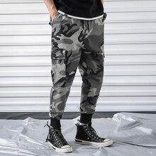 Карго Популярные лого камуфляжные брюки карго мужские весенние Спортивные Брюки Nine Cent серия han тренд свободного кроя Ins