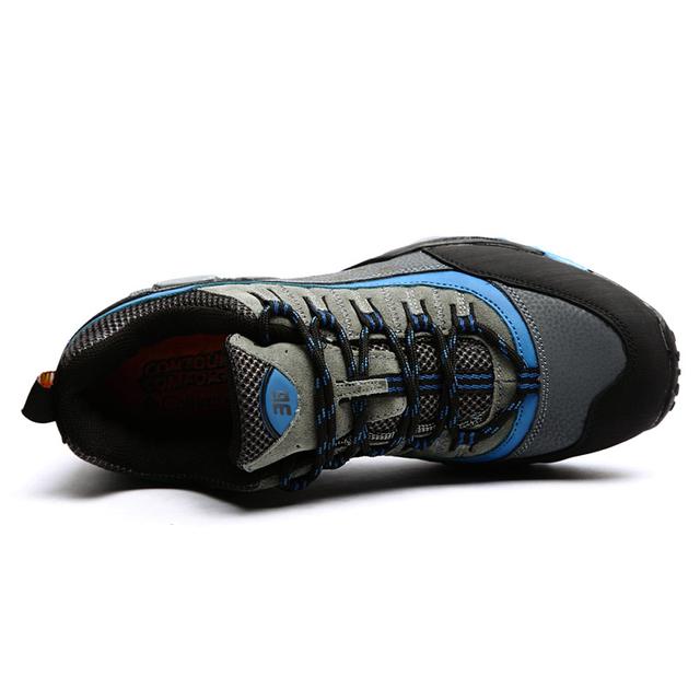 Men Rubber sole walking climbing  shoes breathable hiking shoes  non-slip shoes