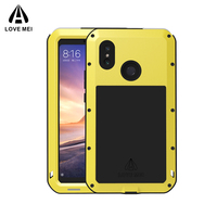 Love Mei Powerful Case For Xiaomi Mi Max 3 Premium Waterproof Shockproof Aluminum Case Cover for xiaomi max3 free Tempered Glass