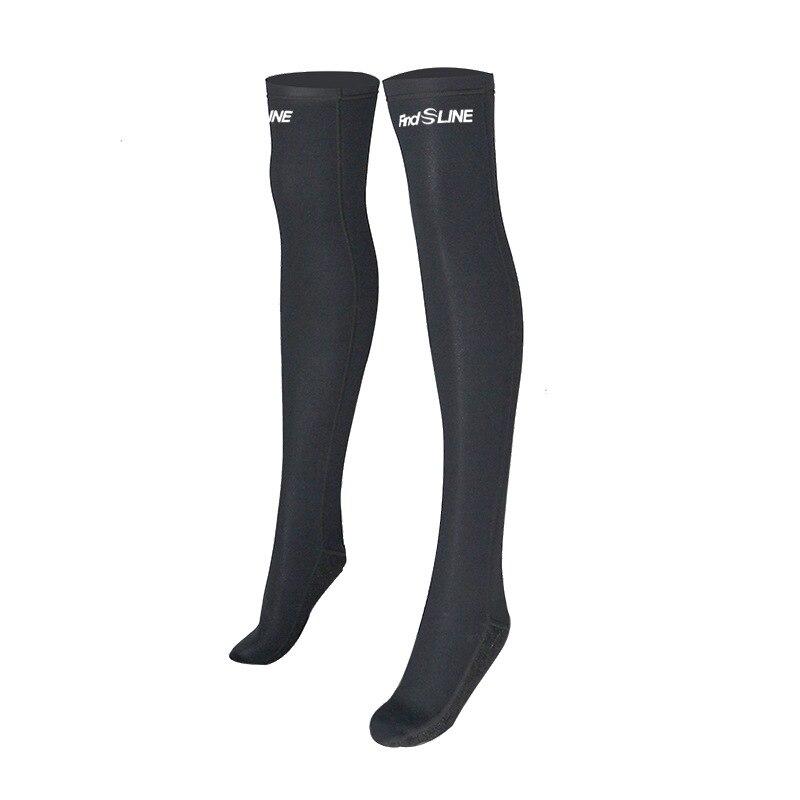 SLINX 2mm néoprène Anti-UV garder au chaud femmes à manches longues Bikini combinaison bas chaussettes longues maillots de bain avant Zipper combinaison de plongée - 6