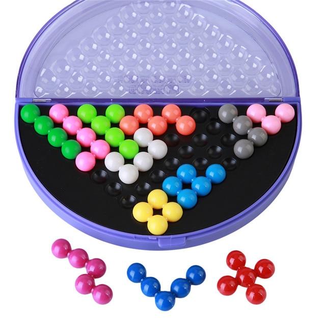 Классическая головоломка Пирамида пластины IQ жемчуг логического mind game Логические Развивающие игрушки для детей пирамидальные бусины головоломки MU838744