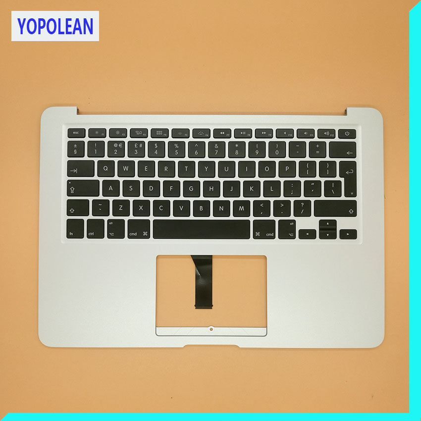 Brand New Top Case Palmrest With EU Keyboard For Macbook Air 13 A1466 2013 2014 2015 2017 brand new a1496 battery 7 6v 54 4wh for macbook air 13 a1466 li ion battery 2013