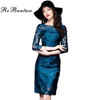 Rebantwa Brand Vestidos XXXL Dress Autumn Women High Quality Embroidery Mesh Hollow Out Dress 3 4