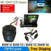 Wirless LED Ночного Видения Автомобиля CCD Камера Заднего вида С 4.3 дюймов цветной ЖК-ДИСПЛЕЙ Автомобиля Видео Складная Монитор Камеры для bmw X1 X3 X5 X6