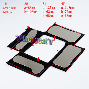 4Pcs Orthodontic Dental Intraoral Clinic photography Mirror +1Pc Cat's paw red +1Pc Green Background Board