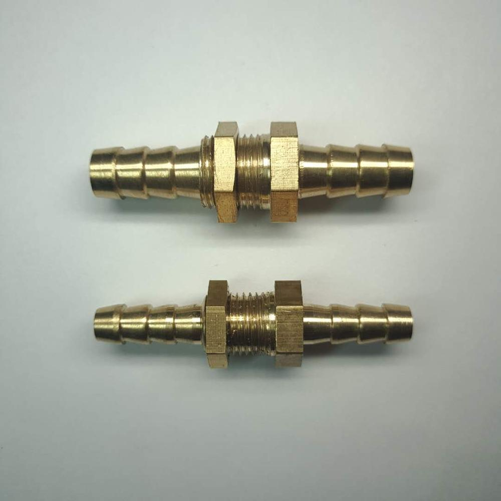 Reducing Fit 4/6/8/10mm Hose Brass Bulkhead Hosetail Hose Barb Pipe Fitting Connector