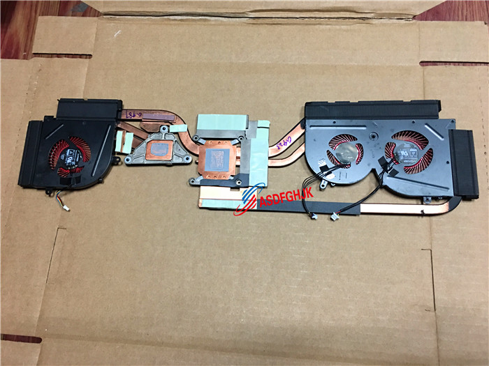 Original pour MSI Gs63vr Radiateur et ventilateur E322500120A entièrement testé