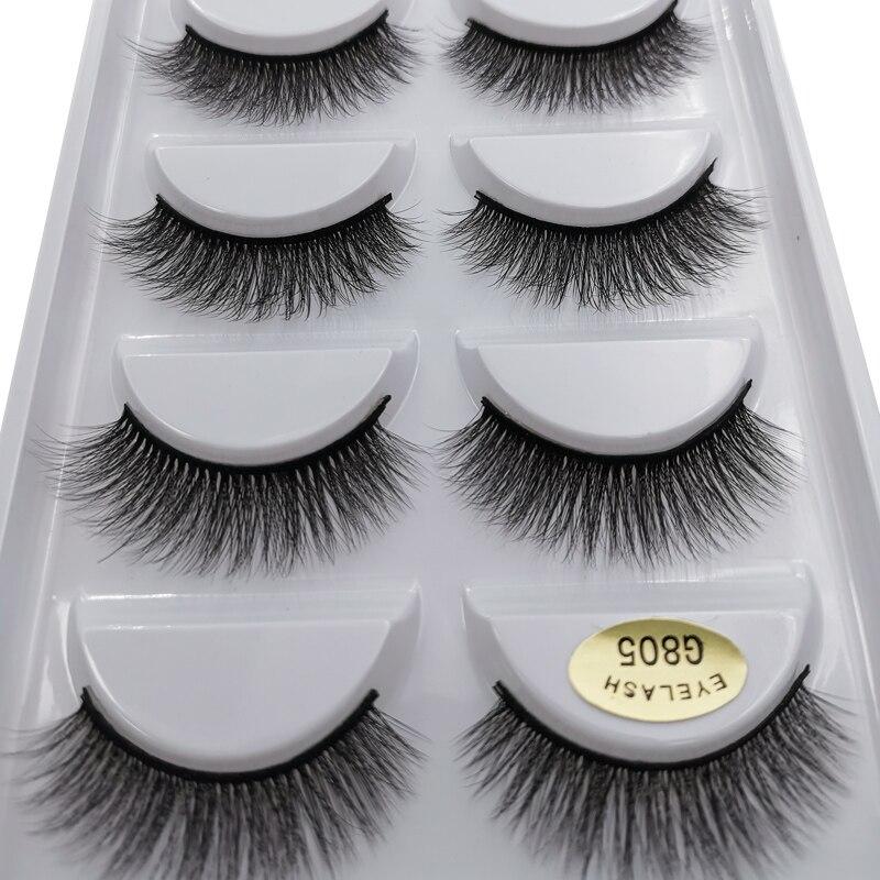 NEW Real 100% Thick 3d Mink Lashes Handmade False Eyelashes Natural Long Mink Eyelashes Extensions Makeups Cilios Maquiagem