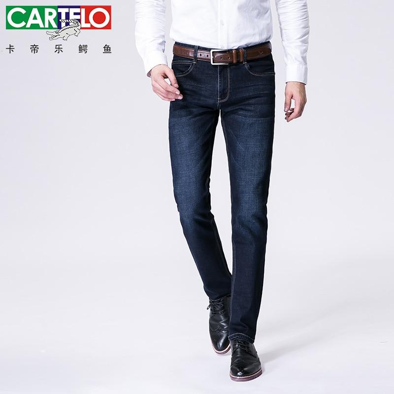 ФОТО Cartelo brand autumn 2016 new men long jeans brand men's fashion straight youth comfort stretch denim trousers