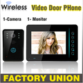 7 Inch Wireless Video Door Phone Doorbell Intercom Touch Key IR Nigh Vision Waterproof Door Camera Home Video Intercom System