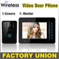 7 Inch Wireless Video Door Phone Doorbell Intercom Touch Key IR Nigh Vision Waterproof Door Camera Home Video Intercom System