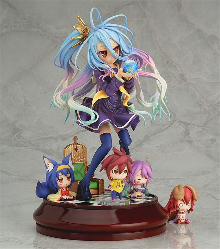 ФОТО New Anime Gift No game No life Imanity Shiro 1/7 scale Painted PVC Figure
