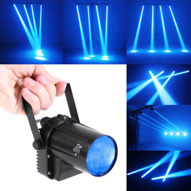 New Pinspot Spotlights Beam Blue Spot Stage Beam Lighting Lamp 3W LED Spot Light Disco Beam DJ Stage Party Show Light rg mini 3 lens 24 patterns led laser projector stage lighting effect 3w blue for dj disco party club laser