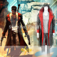 Game DmC Devil May Cry Dante Cosplay Costume Dante Costume For Adult Halloween Party Role Play Costume Men Windbreaker