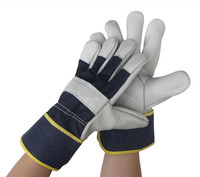 Freeshipping 2pairs High Quality European Size Cow Leather Welding Gloves Protective Wear Resistant High Temperature Resistant