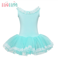 Green Blue Cotton Ballet Dance Dress Children Tutu Ballet Leotard Ballerina Dresses Kids Ballet Costume Clothes