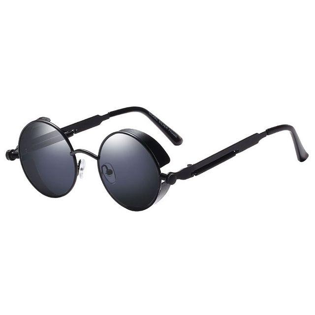 Redonda de Metal Óculos de Sol Óculos de Steampunk Óculos Retro Vintage óculos de Sol Das Mulheres Dos Homens de Moda UV400