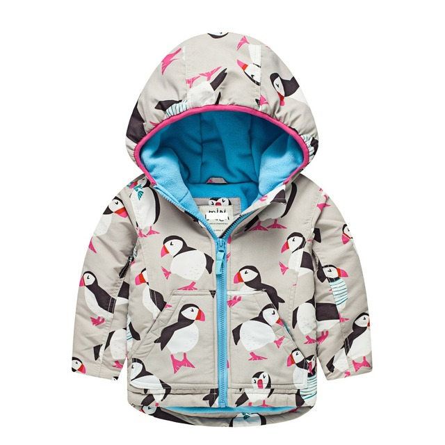4d5a592c8 Girls Boys winter coats Print Owl Penguin Thickened Cotton Jackets ...