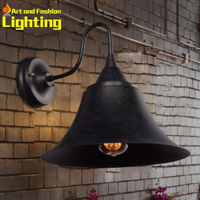 ФОТО Hot sale 2015 new retro industrial iron wall lamp vintage edison bulb applicative good quality wall sconce corridor lights