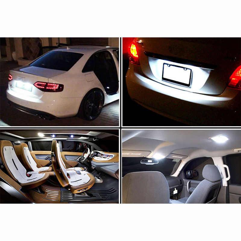 T10 W5W LED Luz de coche SMD 3030 lámpara de marcador WY5W 192 501 cuña de bombilla lateral de aparcamiento Luz de cúpula estilo automático de coche de cc 12V