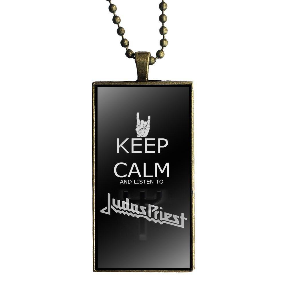 Musique Groupe Rock Judas Priest Collier lame de rasoir Forme Pendentif pour hommes cadeau