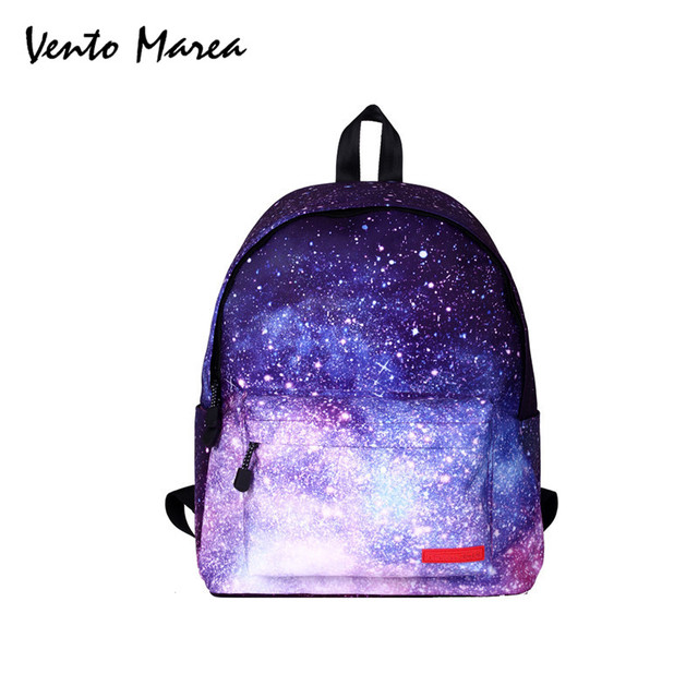 Galaxy Backpack Space Backpack Laptop Universe Floral Printing School Bags  For Teenage Girls Students Mochila Notebook Sac A Dos