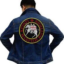 XPISTI SIGILLVM patch Embroidered Applique Label punk biker Patches Clothes Stickers Apparel Accessories Badge