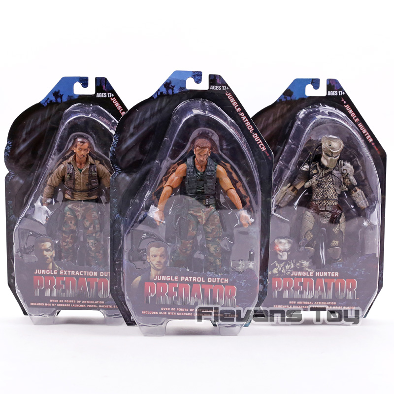Predator 25th Anniversary Jungle Hunter Jungle Extraction / Patrol Dutch PVC Action Figure Toy Movable Model Collection jungle food