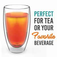2/4/6pcs 450ML Handmade Heat Resistant Double Layer Glass Coffee Tea Quality Drink Cups Insulated Clear Glass