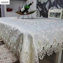 Vezon Hohe Qualität Neue Design Heißer Verkauf Rechteckigen Elegante Polyester Spitze Tischdecken Hochzeit Startseite Overlay Abdeckungen