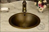 fashion american vintage basin Classical full bronze basin wash basin counter basin