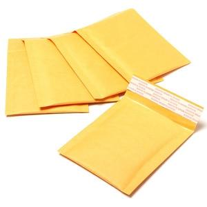 Image 2 - Оптовая продажа, 100 шт./лот, от производителя, крафт пакеты с пузырьками, почтовые пакеты с подкладкой, конверты, бумажные пакеты, 11x13 см