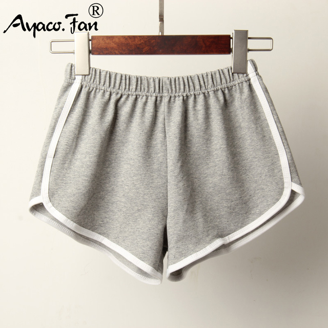 Sports New Candy Color Skinny Shorts Casual Elastic Waist Beach Short Pants 4