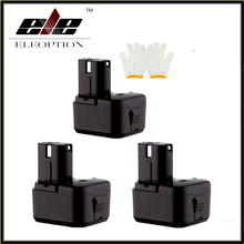 Eleoption New 3PCS 12V Ni MH 3 0Ah Replacement Power Tool Battery forHitachi EB1212S EB1214L EB1214S