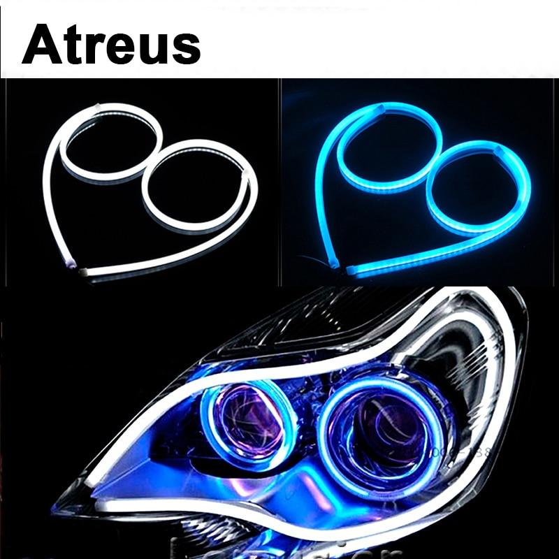 Atreus For Nissan qashqai Citroen c4 c5 c3 c2 Chevrolet cruze aveo Peugeot 60CM Flexible Car LED Daytime Running Light DRL Lamp