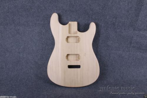 Nouveau Corps De Guitare Électrique en bois de Paulownia Inachevé Fort Léger Guitare pièces 25.5 pouce Strat