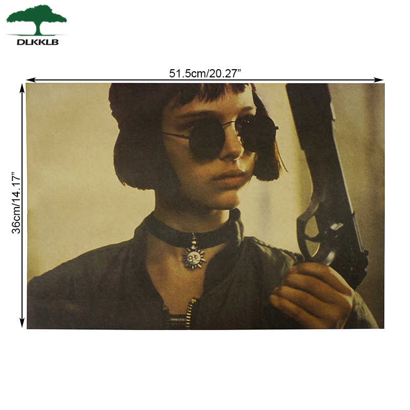 DLKKLB القاتل ليست باردة جدا ملصق الأفلام الكلاسيكية خمر ليون كرافت ورقة اللوحة الزخرفية 51.5X36 سنتيمتر الجدار ملصق