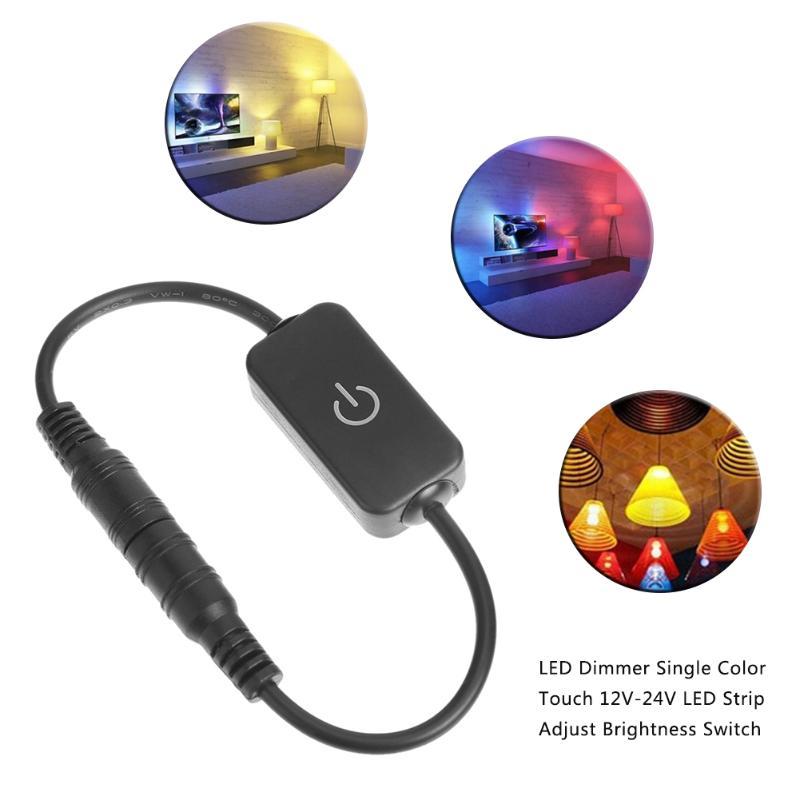 все цены на Mini DC 12V-24V Touch / Manual Knob LED Dimmer Switch Controller Single Color for Led Strip Adjust Brightness On/Off Black White онлайн