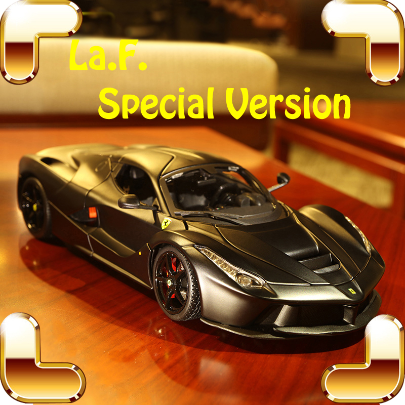 Special Gift LaF Upgrade 1/18 Model Car Dark Cool Version Decoration Vehicle Metal Sports Roadster Collection Present Men Favour