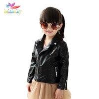 Belababy Spring Autumn Kids Jacket PU Leather Girls Jackets Clothes Children Outwear For Baby Girls Boys