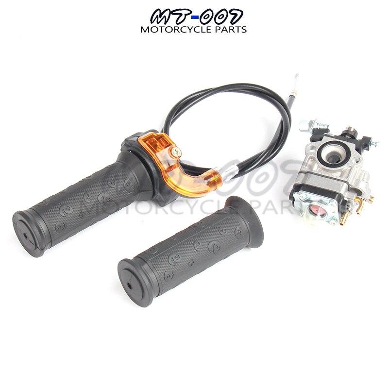 Throttle Settle Grip Cable Carburetor Kit For 47cc 49cc <font><b>Mini</b></font> <font><b>Pocket</b></font> <font><b>bike</b></font> <font><b>dirt</b></font> <font><b>bike</b></font> racing ATV Quad 2 stroke engine <font><b>carb</b></font> MiniMoto