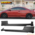 Fit 06-11 honda civic coupe h-desempenho de uretano pu saia lateral add-on