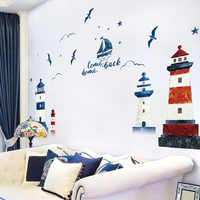 Similar Mediterranean Lighthouse Building Wall Sticker Home Decor Living Room Sofa TV Background Wall Decal Spring Decoration